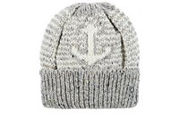 Thom Browne Men's Anchor Wool Mohair Beanie Grey White