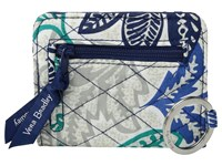 Vera Bradley Campus Double Id Santiago Credit Card Wallet Blue