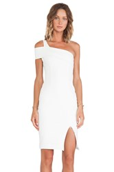 Nicholas Ponti Wrap Backless Dress White