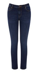 Warehouse The Relaxed Skinny Cut Denim Mid Wash