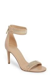 Kendall Kylie Miaa Beaded Sandal Light Latte Platinum
