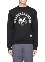 Bedwin And The Heartbreakers 'Lou' Wolf Print Sweatshirt Black