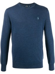Ralph Lauren Crew Neck Jumper Blue