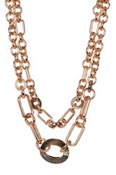 Vince Camuto Chain Link Layer Necklace Pink