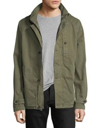 Civil Society Twill Military Anorak Jacket Olive