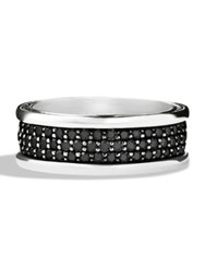 David Yurman Pave Silver Ring