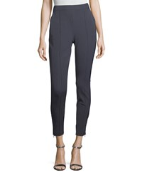St. John Stretch Twill Cropped Leggings Anthracite