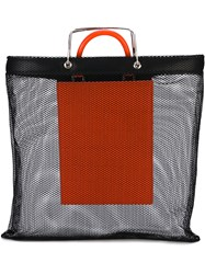 Givenchy Mesh Layered Tote Bag Women Leather Polyamide One Size Black