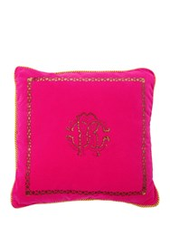Roberto Cavalli Venezia Cotton Accent Pillow Fuchsia