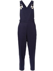 Muveil Cropped Jumpsuit Blue