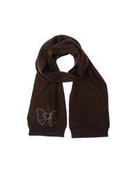 Atelier Fixdesign Accessories Oblong Scarves Women Dark Brown