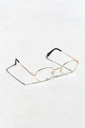 Urban Outfitters Uo Small Metal Oval Readers Gold