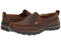 Skechers Relaxed Fit Superior Gains Dark Brown Men's Slip On Shoes