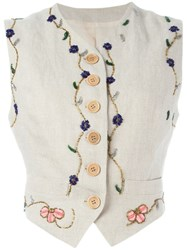 Dolce And Gabbana Vintage Embroidered Waistcoat Multicolour