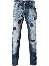 Philipp Plein 'String' Super Straight Cut Jeans Blue