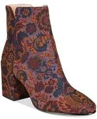 Aldo Women's Sully Block Heel Mod Booties Bordeaux Brocade