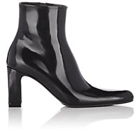 Balenciaga Patent Leather Ankle Boots Black