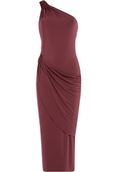 Tamara Mellon Asymmetric Jersey Dress Red