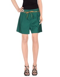Cristinaeffe Skirts Mini Skirts Women Emerald Green