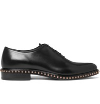Givenchy Studded Leather Oxford Shoes Black