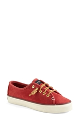 Sperry 'Seacoast' Washable Suede Boat Shoe Women Red Suede