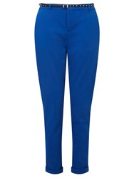 Maison Scotch Belted Chino Trousers Cobalt