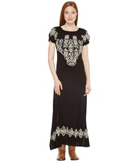 Scully Caprice Maxi Dress With Emboidery Black Women's Dress