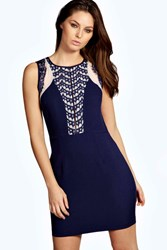 Becca Boutique Backless Lace Detail Bodycon Dress