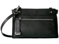 Frye Natalie Moto Crossbody Black Soft Pebbled Leather Cross Body Handbags