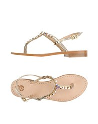 8 Footwear Thong Sandals Women Platinum