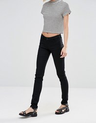 Weekday Saturday Low Waist Skinny Jeans Super Black