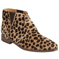 And Or Pesha Low Block Heeled Ankle Boots Leopard