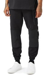 Topman Men's Aaa Collection Lace Up Jogger Pants Black