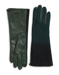 Echo Wool And Leather Gloves Green