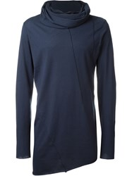 Alchemy Cowl Neck Longsleeved T Shirt Blue