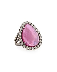 Bavna Silver Mixed Diamond And Composite Ruby Rg Women's