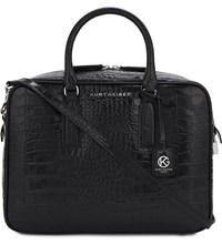 Kurt Geiger London Abigail Leather Bowling Bag Black
