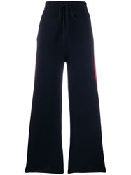 N.Peal Knitted Track Pants Blue
