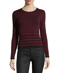 Romeo And Juliet Couture Chevron Knit Top Black Ox Blood