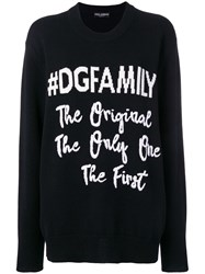 Dolce And Gabbana Dgfamily Jumper Black
