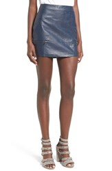 Lovers Friends Women's 'Good To Be Bad' Embossed Faux Leather Miniskirt