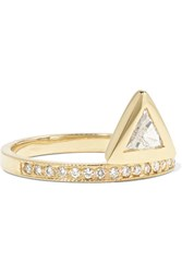 Jacquie Aiche 14 Karat Gold Diamond Ring 6