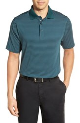 Bobby Jones Men's 'Edge Stripe Xh20' Stretch Golf Polo Pine