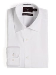 Black Brown Fitted Non Iron Dress Shirt White