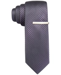 Alfani Men's Mars Dot Skinny Tie Only At Macy's Purple