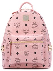 Mcm Mini Stark Backpack Men Leather One Size Pink Purple