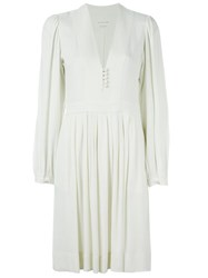 Etoile Isabel Marant A Toile 'Neil' Dress Nude And Neutrals