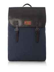Criminal Commuter Backpack With Pu Flap Blue