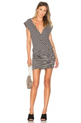 Pam And Gela Henley Muscle Dress Black And White