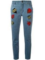 Mr And Mrs Italy Multi Patch Jeans Blue